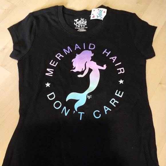 Justice Mermaid Hair Don't Care Tee-Shirt size 5